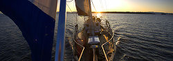Sailboat Panorama - Salish Sea Sailing photo