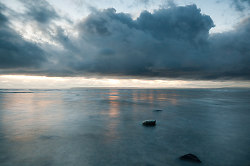Evening clouds over the Salish Sea - Cortes Island  photo