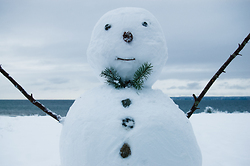 Hello from Snowman - Cortes Island Snowman photo
