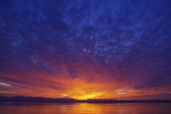 Solar Flair - Cortes Island Sunset photo
