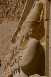 Statues at Djeser-Djeseru -  Ancient Egypt photo