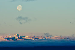 The Moon Over Vancouver Island ~ Moon picture from Vancouver Island Canada.