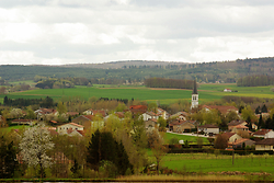 A French Landscape - Unidentified town Village photo