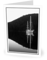Anchored in Carrington Bay - Sailboat photo from  Cortes Island BC, Canada