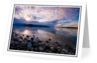 Hollyhock Beach in Morning Light - Sunrise photo from  Cortes Island BC, Canada