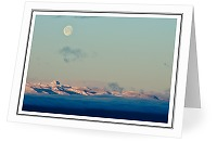 The Moon Over Vancouver Island - Moon photo from  Vancouver Island British Columbia, Canada