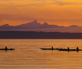Evening Paddle - Kayak photo from Smelt Bay Cortes Island BC, Canada