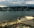 Sailing Dinghy at Mansons Landing - Sailing Dinghy photo from Mansons Landing Cortes Island BC, Canada