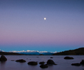 Moon Rise - Night Sky photo from  Desolation Sound BC, Canada