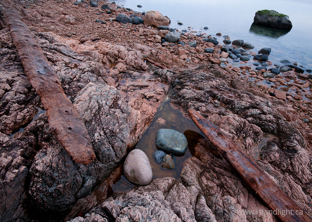 Seascape  photo from Red Granite Point Cortes Island, BC Canada.