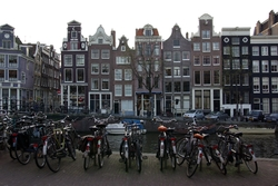 Beside the Canal - Amsterdam Bicycles photo