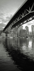 Granville Bridge in Black and White - Vancouver Bridge photo