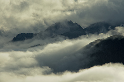 Cloud Shrouded Mountains - Vancouver Island Mountain photo