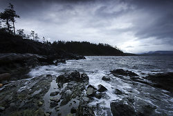 Storm at Red Granite Point I - Cortes Island  photo
