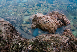 Rocks and water - Cortes Island  photo