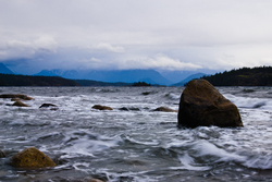 Wind and Water - Cortes Island Storm photo