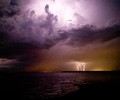 Discovery Islands Lightening photo